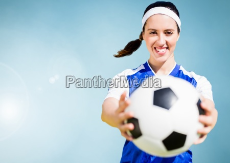 composite image of a sports woman