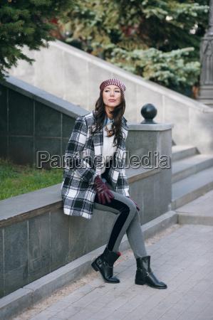 young beautiful stylish woman wearing a