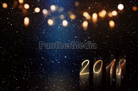 new year background with blue light