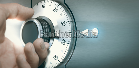 locking or unlocking a safe deposit