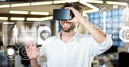 man wearing vr fitness virtual reality