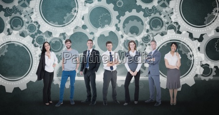 digitally generated image of business people