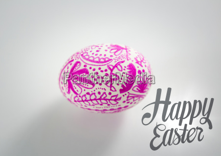 grey easter graphic and pink patterned