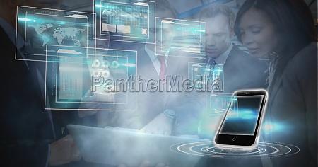 digitally generated image of smart phone