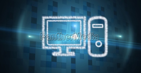 digital composite image of computer made