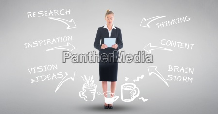 digital composite image of businesswoman with