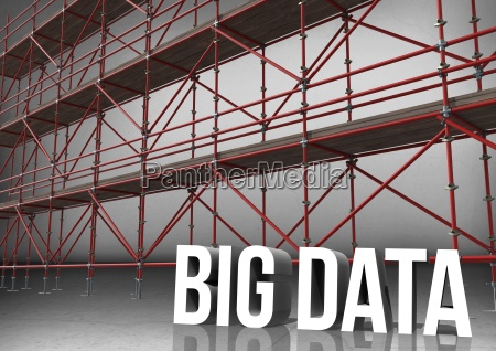 3d word big data in front