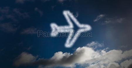 digital composite image of airplane shape