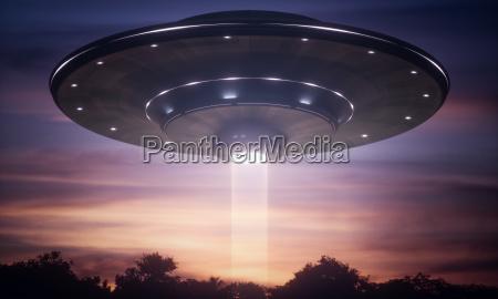 spacecraft alien tractor beam