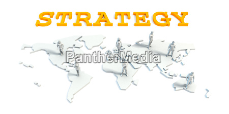 strategy concept with business team