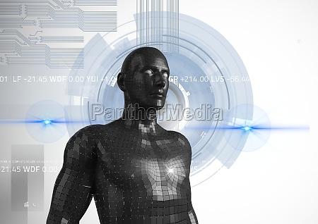 digital composite image of 3d man