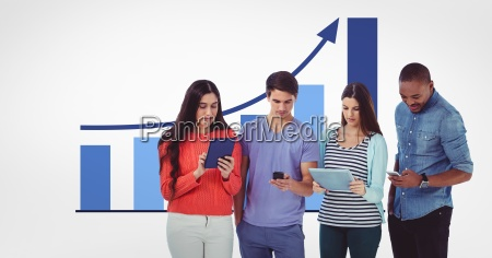 males and females using technologies against