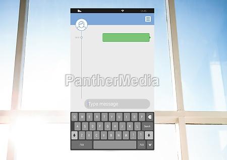 messenging social media app interface