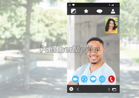 social video chat app interface