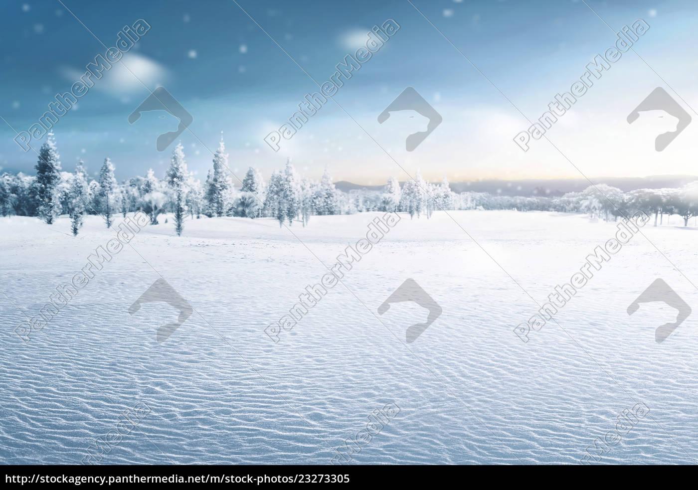 landscape, of, snowy, field, with, frozen - 23273305