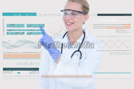 woman doctor interacting with a digital