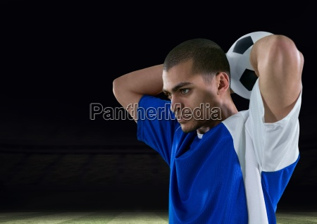 soccer player throw in the ball