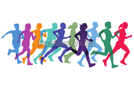 sporty run and jog