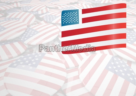 3d composite image of the american