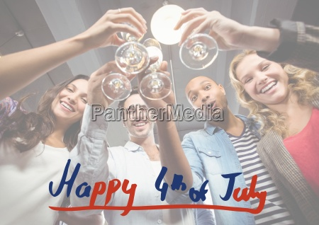 fourth of july graphic against millennials