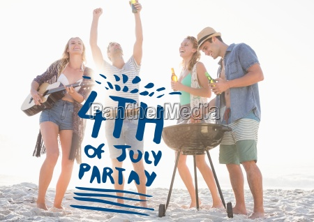 blue fourth of july graphic against