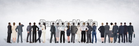 group of business people standing in