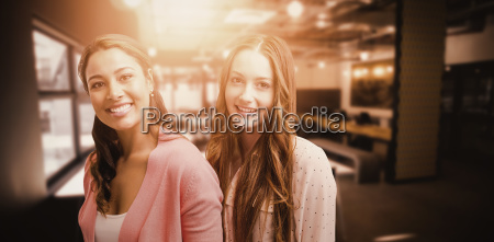 composite image of 2 smiling women