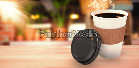 composite image of dark coffee on