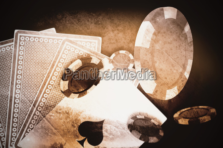 composite image of vector image of