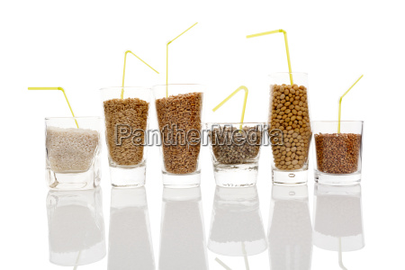 various grains and seeds for making