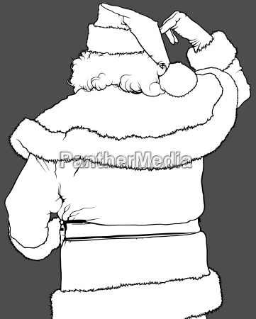 santa claus rear view