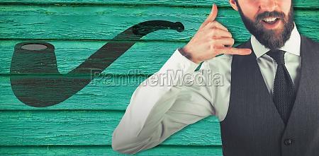 composite image of portrait of businessman