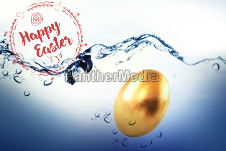 composite image of happy easter red