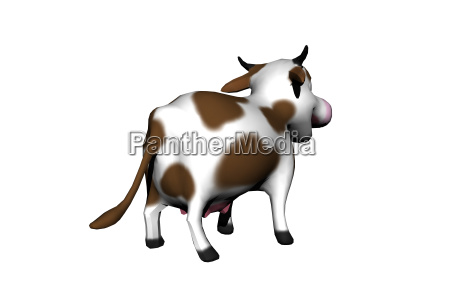 spotted cartoon cow isolated