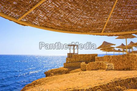 wonderful solar beach in the egypt