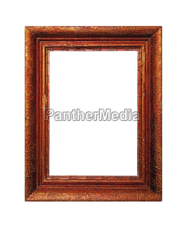 vintage painted picture frame isolated on