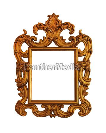 antique golden picture photo or mirror
