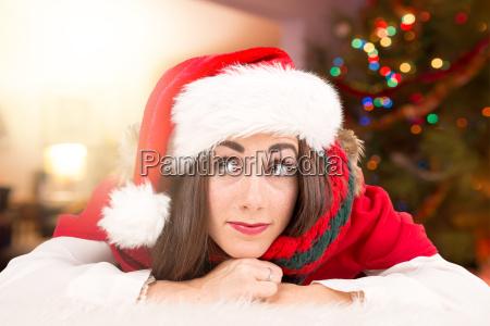 girl, in, christmas - 23342181