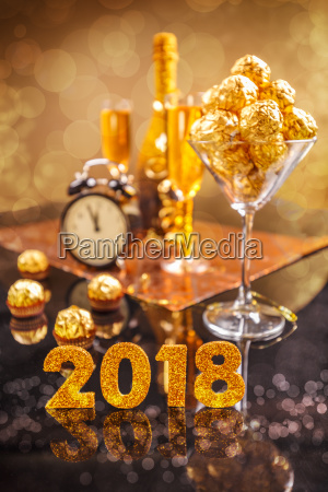 2018 new years celebration concept