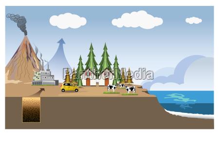 biomass energy system process illustration