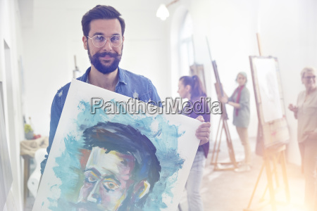 portrait smiling confident proud male artist