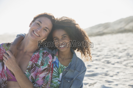 portrait smiling confident mother and daughter