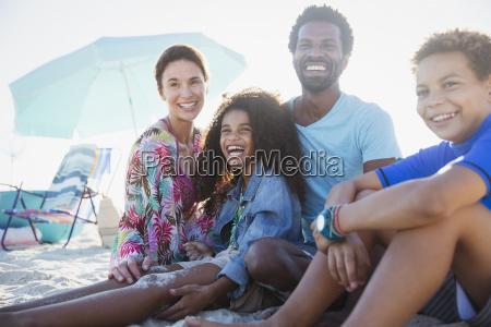 portrait smiling happy multi ethnic family