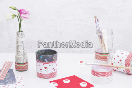 decorating glasses with decoupage