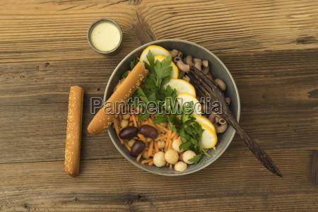 vegetarian and vegan salad with