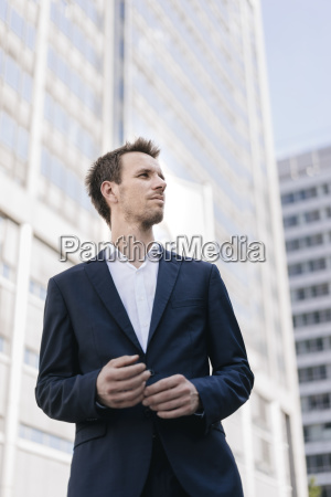 portrait of businessman in the city