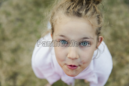 close up portrait of girl with
