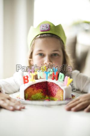 girl with birthday cake