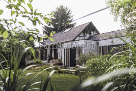 germany country house with garden