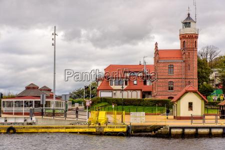 lighthouse ustka west pomerania port city
